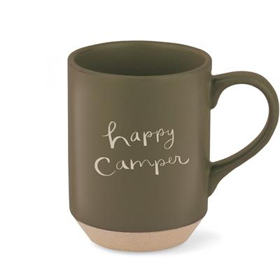 HAPPY CAMPER STONEWARE MUG