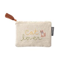 STITCHED CAT LOVER CANVAS POUCH
