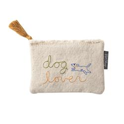 STITCHED DOG LOVER CANVAS POUCH