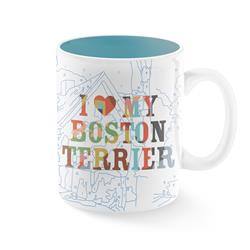 TREY SPEEGLE I LOVE MY BOSTON TERRIER MUG