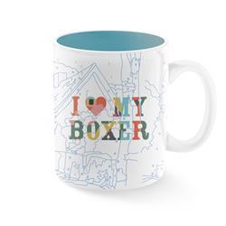 TREY SPEEGLE I LOVE MY BOXER MUG