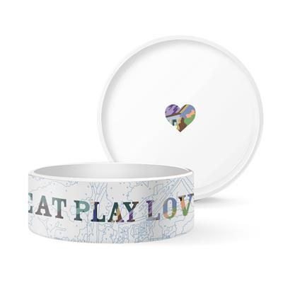 TREY SPEEGLE EAT PLAY LOVE LARGE PET BOWL