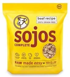 SOJOS DOG FREEZE-DRIED COMPLETE ADULT BEEF 1.75LB