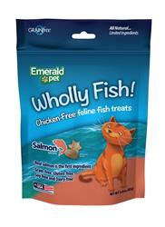 EMERALD PET WHOLLY FISH! SALMON PLUS DIGESTIVE HEALTH CAT TREAT 3 OZ