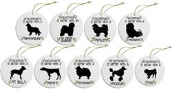 Breed Specific Round Christmas Ornament  (Starting with Letters N-Z)