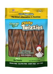EMERALD PET CHICKY TWIZZIES DOG TREAT 6PK/6IN
