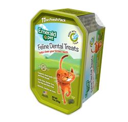 EMERALD PET FELINE DENTAL TREAT TUB TUNA 11OZ