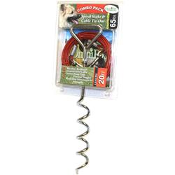 Spiral Stake & Cable Combo