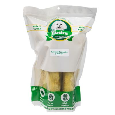 Bull Sticks (Large Size) Chicken Basted Rawhides