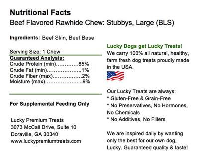 Stubby's (Large Size) Beef Basted Rawhides