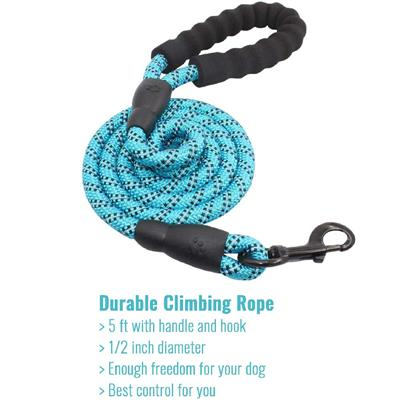 Otis & Claude Reflective Rope Leash - Blue 12 pack