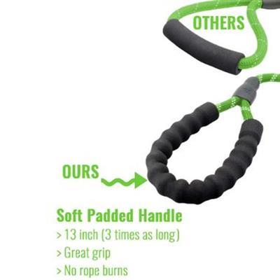 Otis & Claude Reflective Rope Leash - Green