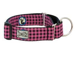 Wide Collars and Leads - Pink Buffalo Plaid