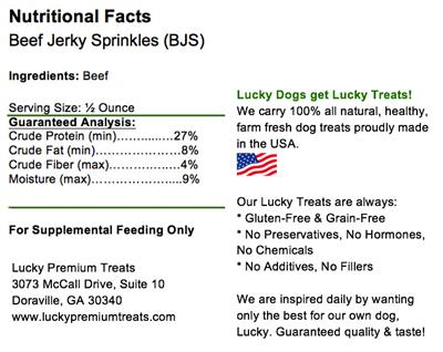 Beef Jerky Sprinkles for Dogs