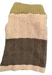 Color Block Sweater Olive/Brown
