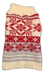 Red Nordic Pattern Sweater
