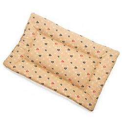 Caramel Paws in Hearts Cotton Fabric Flat Pet Bed