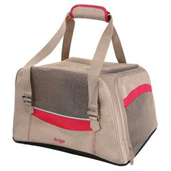 Metro Dog Carrier - Heather Nutmeg/Barn Red