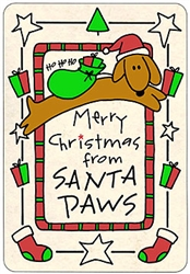 Crunch Card - Santa Paws