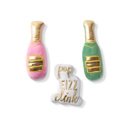 CHAMPAGNE SMALL DOG TOYS - SET OF 3