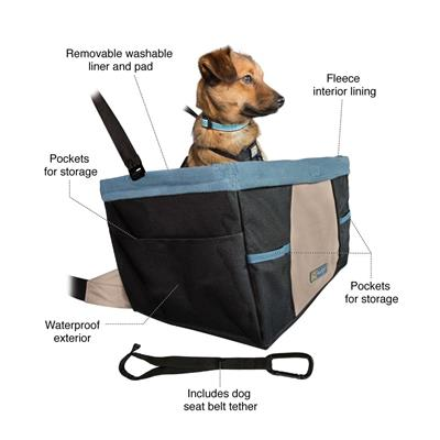 Rover Booster Seat - Black/Blue