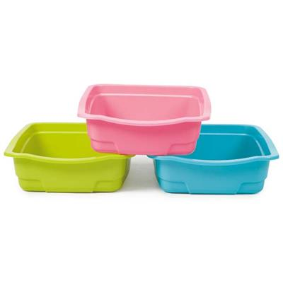 Savvy Tabby Litter Pans (6-Pack Assorted Colors)