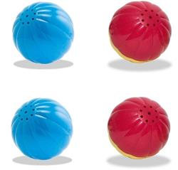 Pet Qwerks, Party Pack of  4 Medium (2 Babble and 2 Animal) Talking Ball