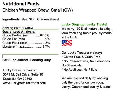 Bulk Box - Regular Size - Chicken Wrapped Rawhide Dog Treats
