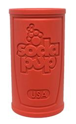 SodaPup - Natural Rubber Retro Soda Can Dog Chew Toy - Made in USA - Treat Dispenser - Slow Feeder - for Heavy Chewers - Red - Large