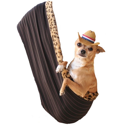 "Brown Pinstripe - Puppy ""Hold 'em"" Sling"
