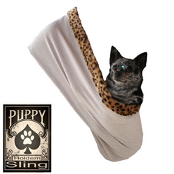 "Tan Pinstripe - Puppy ""Hold'em"" Sling"