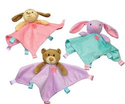 Ethical Soothers Blanket Toys Assorted 10in