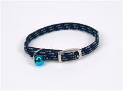 Coastal Li'l Pals Elasticized Safety Kitten Collar Refl Threads Black 5/16X8in - COPY