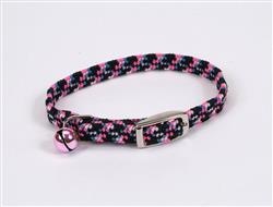 Coastal Li'l Pals Elasticized Safety Kitten Collar Refl Threads Neon Pink 5/16X8