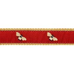"""Burgundy Bee - 1/2"""" Collars, Leashes and Harnesses"""