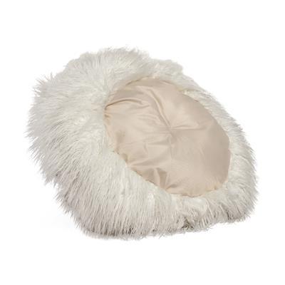 """Mongolian Fur Donut Cuddler Ivory 26"""""""