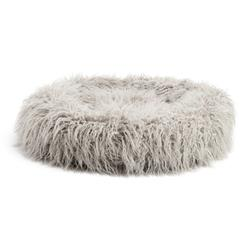 "Mongolian Fur Donut Cuddler Grey 26"""