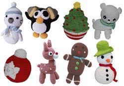 Christmas Knit Knack Toys