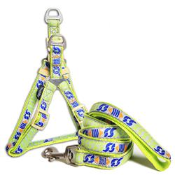 Touchdog 'Chain Printed' Tough Stitched Dog Harness and Leash