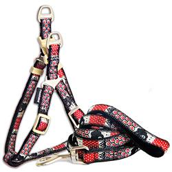 Touchdog 'Owl-Eyed' Tough Stitched Dog Harness and Leash
