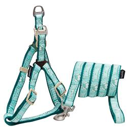 Touchdog Green 'Funny Bone' Tough Stitched Dog Harness and Leash