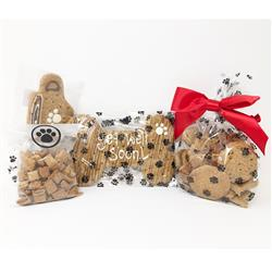 Pet Life 'Get Well Soon' Dog Biscuits and Treats Gift Set