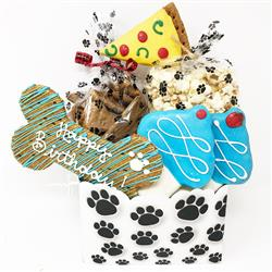 Pet Life 6 Piece 'Happy Birthday' Dog Biscuits and Treats Gift Set
