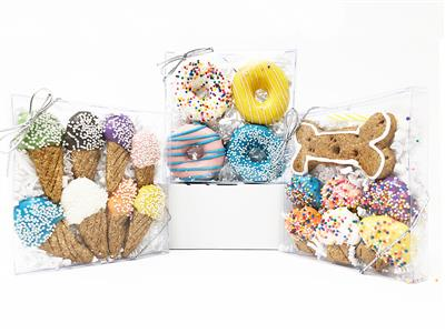 Pet Life 3 Pack of Donut, Ice Cream and Muffin Dog Biscuit Gift Set