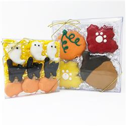 Pet Life 2 Pack of Halloween and Fall Themed Dog Biscuit Gift Set