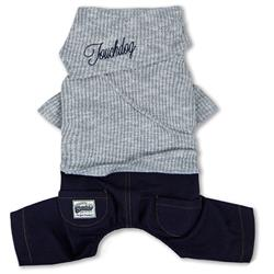 Touchdog Vogue Neck-Wrap Sweater and Denim Pant Outfit