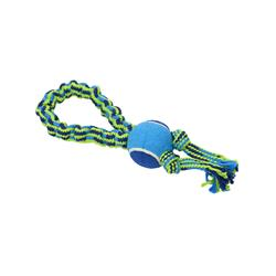 BUSTER Bungee Rope Dog Toy, Single Knot with Tennis Ball
