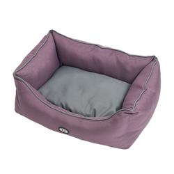 BUSTER Sofa Bed in Black Plum/Steel Grey