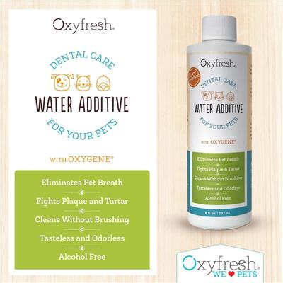 Pet Water Additive for Dogs & Cats by Oxyfresh  - 8 oz. Bottle