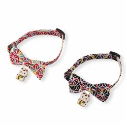 Lucky Cat Charm Bow Tie Cat Collar